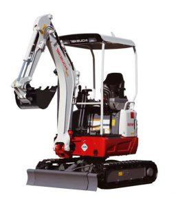 TB215 short tail swing excavator hire ludlow