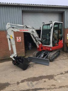 Takeuchi-TB230 3t compact excavator hire ludlow