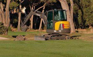 volvo ec27 excavator digger hire ludlow