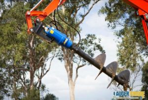excavator attachments hydraulic auger hire