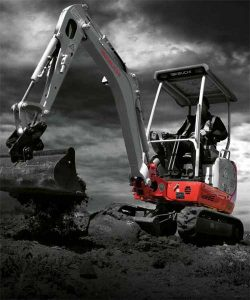compact excavator hire short tail swing